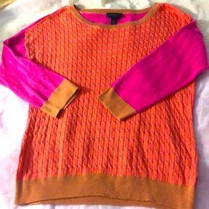 Adorable color block sweater!